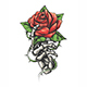 Skeleton Hand Holding Rose Flower Drawn in Vintage Tattoo Style - GraphicRiver Item for Sale
