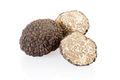 Black truffle and slices isolated on white, clipping path included - PhotoDune Item for Sale