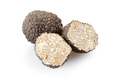 Black truffle and sections isolated on white, clipping path included - PhotoDune Item for Sale