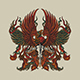 Mythical Phoenix with Eagle Vector Illustration - GraphicRiver Item for Sale