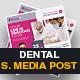 Dental Medical Social Media Post Template - GraphicRiver Item for Sale