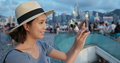 Travel woman take photo of the city in Hong Kong - PhotoDune Item for Sale