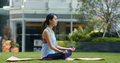 Woman do yoga at the park - PhotoDune Item for Sale