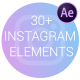 Instagram Elements   Frosted Glass Cards - VideoHive Item for Sale