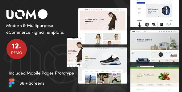 Uomo - Modern & Multipurpose eCommerce Figma Template