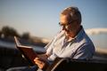 Senior man relaxing - PhotoDune Item for Sale
