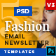 5 Fashion Email Newsletter PSD Templates v3 - GraphicRiver Item for Sale