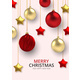 3D Realistic Background Gold and Red Christmas - GraphicRiver Item for Sale