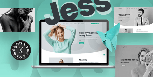 Jess - Personal, Portfolio, CV & Resume Website Template