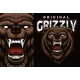 A Colorful Vector Emblem with a Grizzly - GraphicRiver Item for Sale
