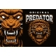 A Colorful Vector Emblem with a Roaring Lion - GraphicRiver Item for Sale