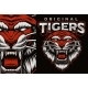 A Colorful Vector Emblem with a Roaring Tiger - GraphicRiver Item for Sale