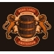 A Vinatge Brewery Emblem with a Barrel and Lions - GraphicRiver Item for Sale