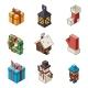 Christmas Polygonal Outline Icons - GraphicRiver Item for Sale