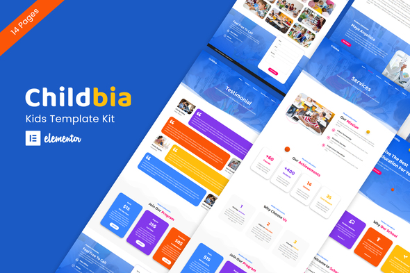 Childbia - Childcare Elementor Template Kit