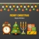 Merry Christmas Background with Balls, Gift Boxes - GraphicRiver Item for Sale