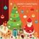 Christmas Background with Isometric Toys - GraphicRiver Item for Sale
