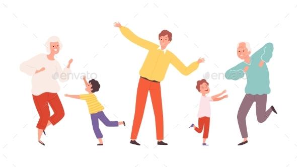 Dancing Family.