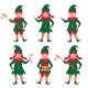Set of Funny Christmas Elves. Vector Illustration - GraphicRiver Item for Sale