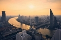 Urban skyline Bangkok during sunset - PhotoDune Item for Sale