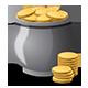 Hand Grabbing Coins Set