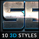 10 3D Styles vol. 28 - GraphicRiver Item for Sale
