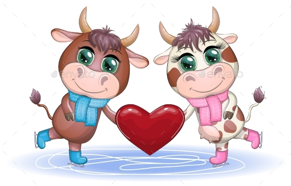 Happy Chinese New Year Cows