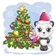 Cartoon Panda Bear with Big Eyes in a Red Hat - GraphicRiver Item for Sale