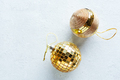 Christmas golden baubles on bright - PhotoDune Item for Sale