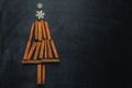 Abstract christmas tree with cinnamon sticks - PhotoDune Item for Sale