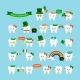 St Patrick Cute Teeth Icon Set Isolated on - GraphicRiver Item for Sale