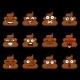 Big Vector Set with Funny Cute Poop Emoji - GraphicRiver Item for Sale