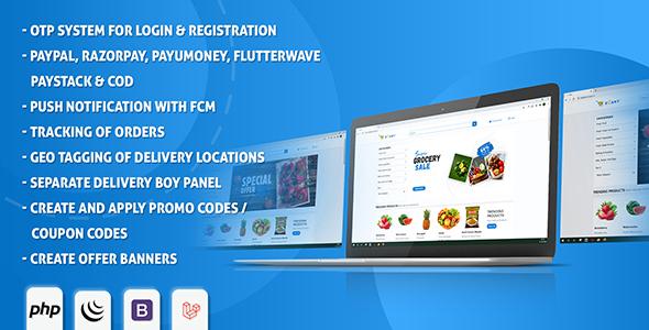 eCart Web - Ecommerce/Store Full Website