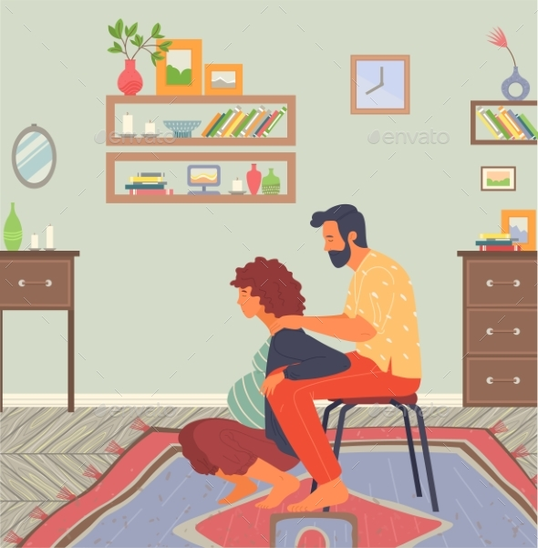 Birth Position for Pregnant Woman, Husband Help