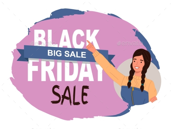 Black Friday Concept. Sale Banner with Beautiful