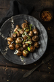 Fried marinated mushrooms with onions and garlic on a plate - PhotoDune Item for Sale