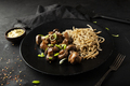 Spaghetti with fried mushrooms on a plate - PhotoDune Item for Sale