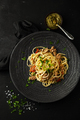 Spaghetti bolognaise with tomatoes, meat and basil on a plate - PhotoDune Item for Sale