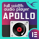 Apollo - Sticky Full Width HTML5 Audio Player - Elementor Widget Addon - CodeCanyon Item for Sale