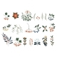 Set of Plants with Flowers, Spruce Branches - GraphicRiver Item for Sale