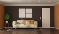 Modern style living room with sofa and closed door - PhotoDune Item for Sale