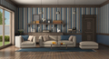 Classic style living room with modern sofa and armchair - PhotoDune Item for Sale
