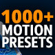 1000 Motion Presets for AnimationMaster - GraphicRiver Item for Sale