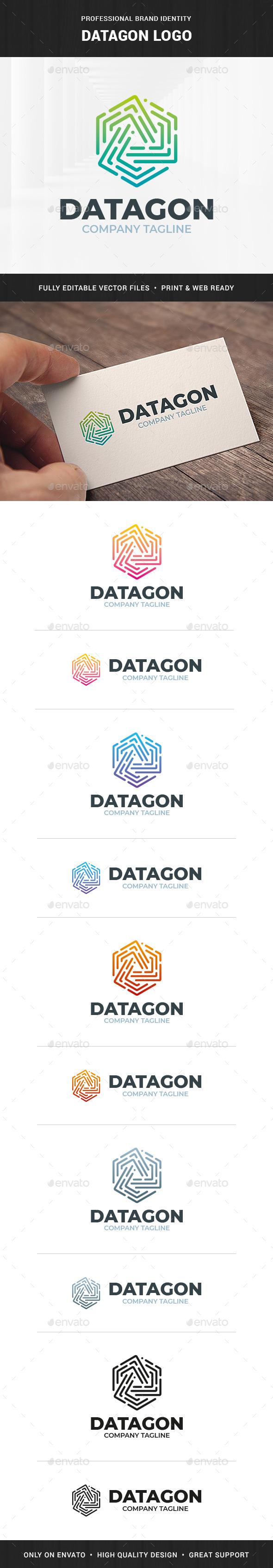 Datagon Logo Template