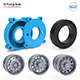 Truck Tire Mold With 3 Wheels 3D Printing Model - 3DOcean Item for Sale