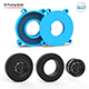 Tire Mold With Standard Wheels 3D Printing Model - 3DOcean Item for Sale