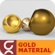 Gold Material Vray - 3DOcean Item for Sale