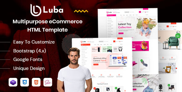 Download Luba | Multi-Niche eCommerce HTML Template Nulled