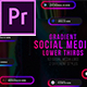 Gradient Social Media Lower Thirds - VideoHive Item for Sale
