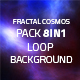 Fractal Cosmos 8in1 Loop Backgrounds - VideoHive Item for Sale